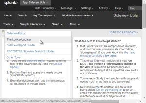 Go to the Sideview Utils app, then find The Lookup Updater in the Tools menu.
